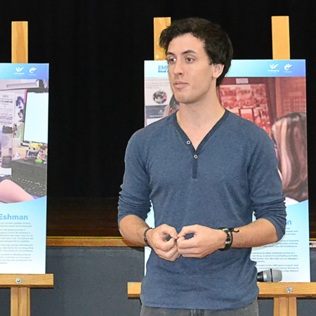 Elliot York Cameron at the launch of the EmployABILITY project
