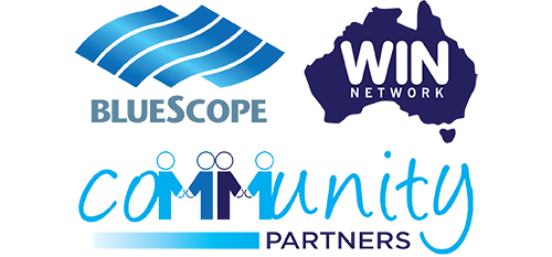 BlueScopeWIN Community Partners logo