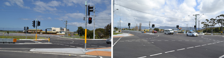 West Dapto Princes Highway intersection works
